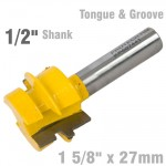 """TONGUE AND GROOVE TAPER (WEDGE TAPER) 1 5/8"""" X 27MM 1/2"""" SHANK"""
