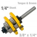 "TONGUE & GROOVE ASSEMBLY 3/8"" X 1/4"" 1/4"" SHANK"