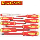 SCREWDRIVER & TESTER SET 8PC ELECTRICIANS INSULATED VDE