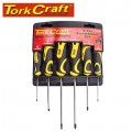 SCREWDRIVER SET 6 PCE WITH WALL MOUNTABLE RACK S2 PZ SL