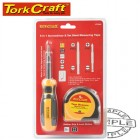 6 IN 1 SCREWDRIVER & 5MT STEEL MEASURING TAPE