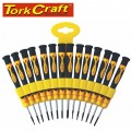 PRECISION SCREWDRIVER SET 14 PCE