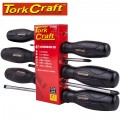 SCREW DRIVER SET 6 PIECE BLACK HANDLE