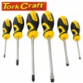 6PC SCREWDRIVER SET WITH WALL MOUNTABLE RACK PH SL