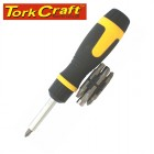RATCHET SCREW DRIVER 13 IN 1 WITH INSERT BITS