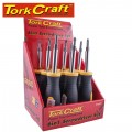 SCREWDRIVER 6 IN 1 CRV BITS PER BOX OF 9