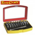 SCREWDRIVER BIT SET 37 PC MINI RATCHET & QUICK BIT HOLDER INCLUDED CRV