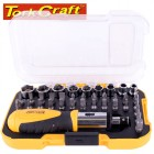 SCREWDRIVER RATCHET BIT SET 37PC