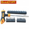 SCREWDRIVER BIT & SOCKET SET 24 PC T BAR