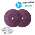 LENTICULAR GRINDING STONES.RUBY ABV.22MM.2PCS