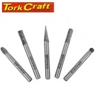 ROTARY BURR SET 5 PC ASSTD 6MM DIA TUNGSTEN