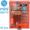 PRECISION SCREWDRIVER BIT SET 45PCS