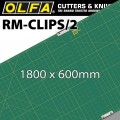 OLFA MAT SET 900 X 600MM x 2 INCL 2 JOINING CLIPS FOR ROTARY CUTTERS