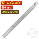 STAINLESS STEEL RULER 300 X 25 X 1.0MM