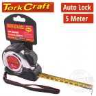 MEASURING TAPE SELF LOCK 5M X 19MM S/S & RUBBER CASING MATT FINISH