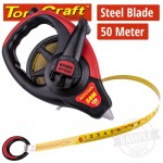 MEASURING TAPE STEEL BLADE 50M X 13MM CO-MOLDED RUBBER CASING