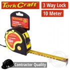 MEASURING TAPE  MULTI LOCK 10M X 25MM RUBBER CASING MATT FINISH
