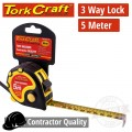 MEASURING TAPE  MULTI LOCK 5M X 19MM RUBBER CASING MATT FINISH