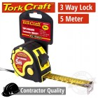 MEASURING TAPE MULTI LOCK 5M X 25MM LONG LIFE CONTRACTOR