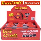 MEASURING TAPE M/LOCK 3M X 16MM PLASTIC CASING DISP.BOX (12 X ME07003)