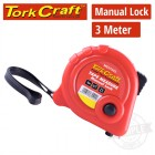 MEASURING TAPE MANUAL LOCK 3M X 16MM PLASTIC CASING