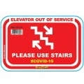 RED USE STAIRS - 470MM X 310MM SOCIAL DISTANCING WALL GRAPHICS