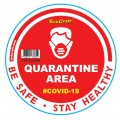 RED QUARANTINE AREA - 170MM ROUND AWARENESS GRAPHIC