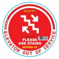 RED USE STAIRS - 170MM ROUND AWARENESS GRAPHIC
