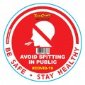RED NO SPITTING - 170MM ROUND AWARENESS GRAPHIC