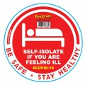 RED SELF ISOLATE - 170MM ROUND AWARENESS GRAPHIC