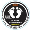 BLACK FEET STAND HERE - 300MM ROUND SOCIAL DISTANCING GRAPHIC
