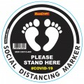 BLACK FEET STAND HERE - 400MM ROUND SOCIAL DISTANCING GRAPHIC