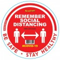 REMEMBER RED - 300MM ROUND SOCIAL DISTANCING GRAPHIC