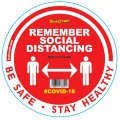REMEMBER RED - 400MM ROUND SOCIAL DISTANCING GRAPHIC