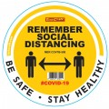 REMEMBER YELLOW - 300MM ROUND SOCIAL DISTANCING GRAPHIC