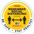 REMEMBER YELLOW - 400MM ROUND SOCIAL DISTANCING GRAPHIC