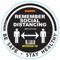 REMEMBER BLACK - 300MM ROUND SOCIAL DISTANCING GRAPHIC