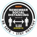 REMEMBER BLACK - 400MM ROUND SOCIAL DISTANCING GRAPHIC