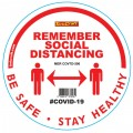 REMEMBER WHITE - 300MM ROUND SOCIAL DISTANCING GRAPHIC