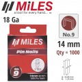 GALV HEADLESS PIN 18G 14MM X 1000PCS MILES NO9