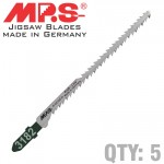 JIGSAW BLADE DOUBLE SIDED FOR WOOD T SHANK