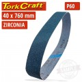60 GRIT ZIRCONIA SANDING BELTS 40MMX760MM