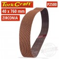 2500 GRIT ZIRCONIA SANDING BELTS 40MMX760MM