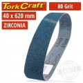 80 GRIT ZIRCONIA SANDING BELTS 40MMX620MM
