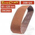 2500 GRIT ZIRCONIA SANDING BELTS 40MMX620MM