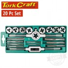 TAP & DIE SET 20PCE IN PLASTIC CASE