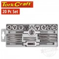 20 PIECE IMPERIAL TAP & DIE SET IN PLASTIC CASE
