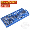 TAP & DIE SET 39PCE IN PLASTIC CASE