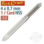 TAP HSS 4X0.7MM ISO 1/CARD