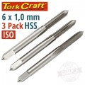 TAPS HSS 6X1.00MM ISO 3/PACK